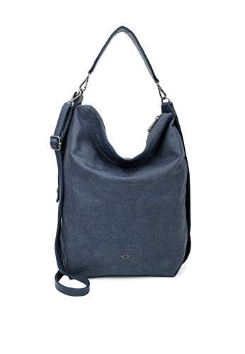 Fritzi aus Preussen Damen Ava Rucksackhandtasche, Blau (Navy), 12x37x41 cm