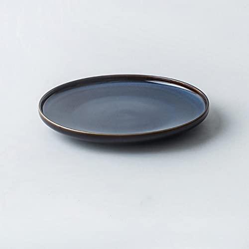 Juego de 3 platos de cena de porcelana azul para ensaladas, cereales y pastas, fiestas, cena de porcelana premium, refinar aspecto de China (azul, 26,4 x 3,2 cm)