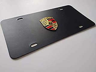 Front vanity license plate for any porsche fan with real 3D emblem crest - Perfect for Accessories