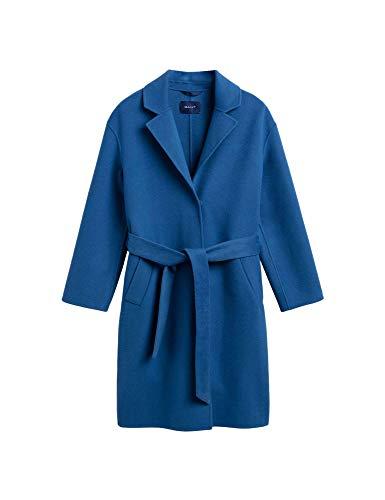 Gant Women's Overcoat Regular Fit Blue in Size Small