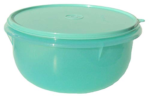 Tupperware Mixing Bowl 12 Cup Flat Bottom Classic Style Light Teal