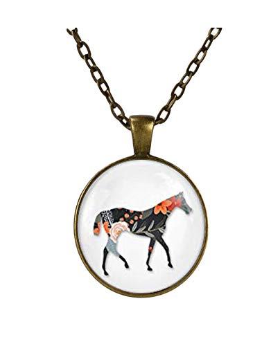 Colgante de caballo,Regalos para ella, Adornos exquisitos, Estilo bohemio, Características nacionales