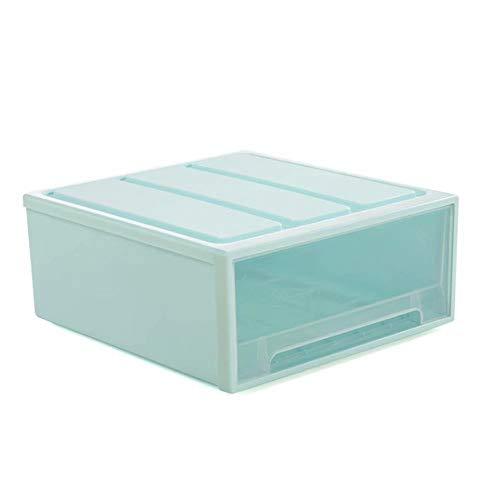 Supmico Cassettiera impilabile Cassettiera in plastica Trasparente Cassettiera per Guardaroba