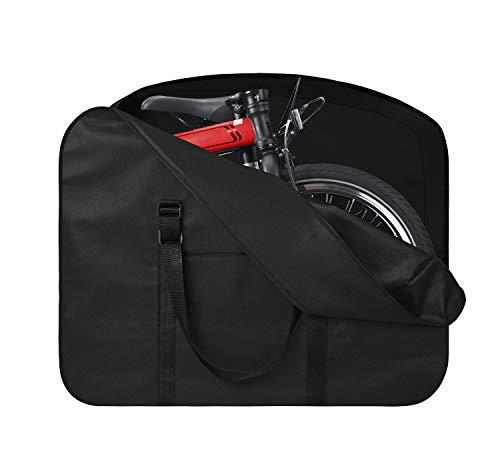 Dokon Fahrrad Transporttasche, Wasserdicht, UV-Beständiges, Schwerlast 600D Oxford Gewebe Klapprad Tasche Tragetasche Abwahrungstasche für 14