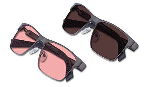 (Bundle) TheraSpecs Conrad Blue Light Glasses for Migraine, Light Sensitivity