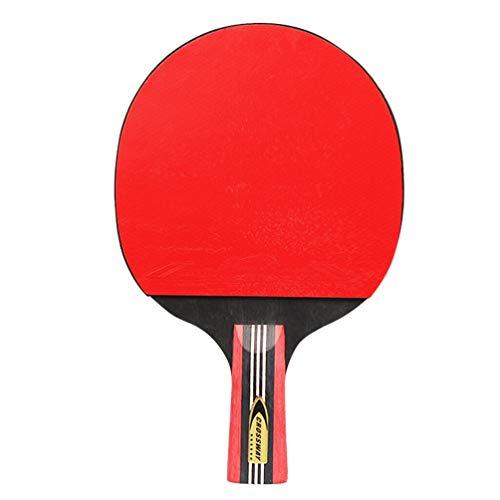 FAVOMOTO Conjunto de Remo de Tênis de Mesa Profissional Raquete de Bola de Tênis de Mesa para Brinquedos de Treinamento Esportivo de Lazer Interno Ao Ar Livre (Empunhadura Direta))