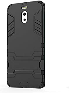 درع الرجل الحديدي الحد الأقصى لحماية الهاتف شاومي ميزو ام 6 نوت - اللون الأسود