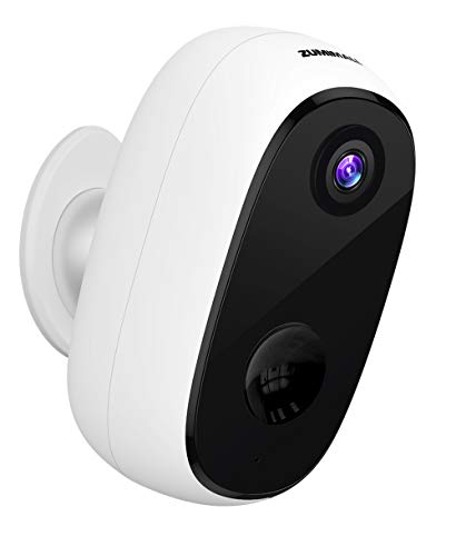Security Camera Outdoor with 10000mAh Battery, Zumimall 1080P Wireless WiFi Cameras for Home Security, Waterproof Camera, IR Night Vision, 2-Way Audio, Motion Detection, Alert, Remote View, Cloud/SD Cameras Dome