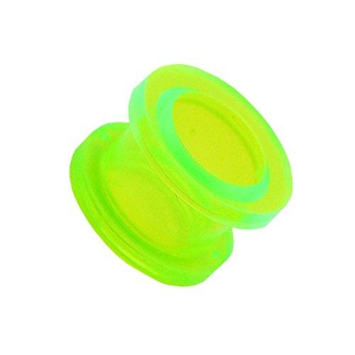 1x Expansor Túnel Flesh Tunnel Plug Piercing Oreja Acrílico Pendientes Dilataciones 2 3 4 5 6 8 10 12 mm, Farbe2:grün/green/vert - 6mm