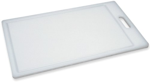 "Progressive International, Dis Prep Solutions by Progressive Cutting, Juice Grooves, Thick Chopping Board, Dishwasher Safe, Measures 9.5"" x 15.5"", Medium, White"