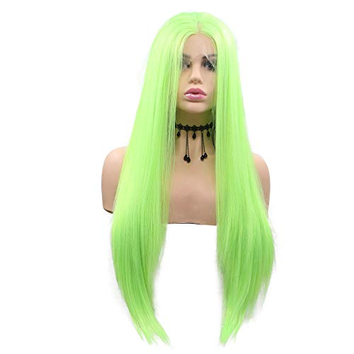 Peluca verde fluorescente fiesta disfraces mujer