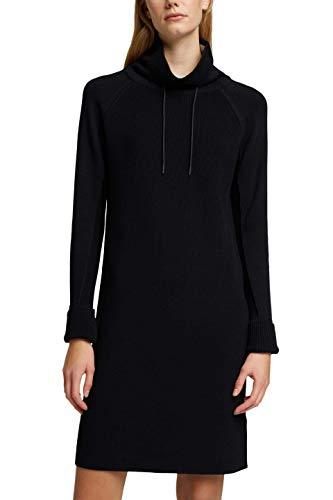 edc by ESPRIT Damen 120CC1E317 Kleid, 001/BLACK, XS
