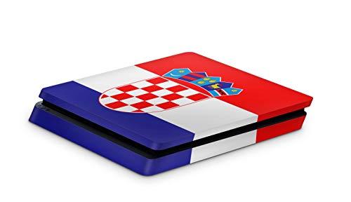 Skins4u Aufkleber Design Schutzfolie Vinyl Skin kompatibel mit Sony PS4 Playstation 4 Slim Kroatien
