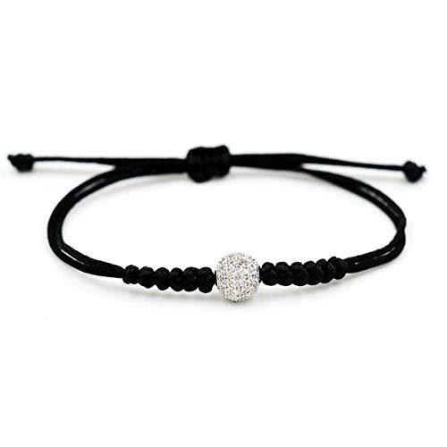 POMU Kristallen Ballen 8mm Rode Touw draad Slang Knoop Armband Liefde Lucky Armbanden Voor Vrouwen