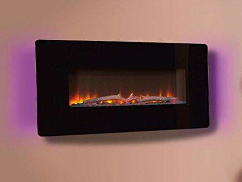 Celsi CFECE0RE Flamonik Enchant Electric Fire - Black Glass