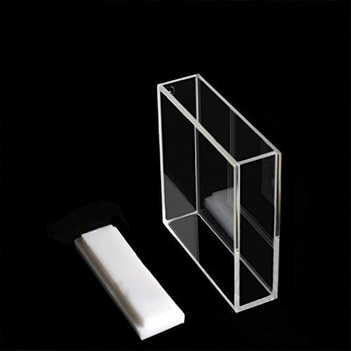 Azzota 40mm Pathlength Optical Glass Fluorometer Cuvette - 14ml, Four (4) sides clear