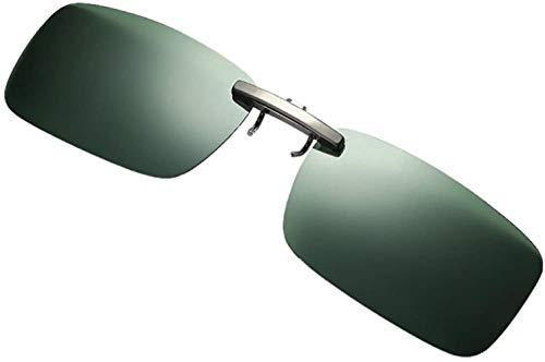 Fuibo Clearance zonnebril for mannen vrouwen Afneembare Van Vision Optics Night Training metalen clip Polarize On Zonnebrillen (Green (30% korting 4 of meer)