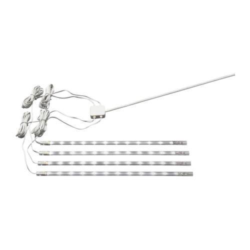 Ikea 201.194.18 Dioder LED Light Strip Set, White, 4-Piece by Ikea