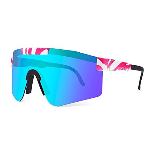 MAVL Gafas de sol cuadradas polarizadas polarizadas para mujeres y hombres - Protección UV color Mirror Lens- Retro Sports playa (color: C21)