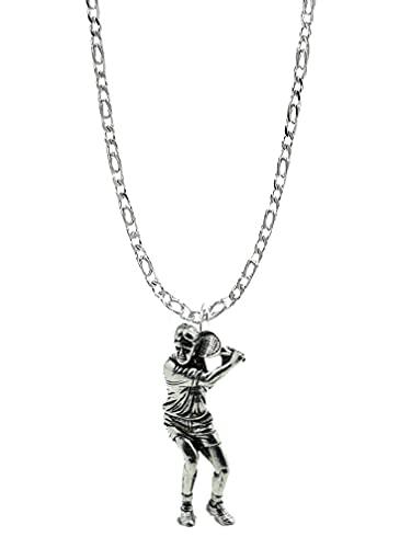 S8giocatore di tennis Ciondolo in vero argento Sterling 925collana a catena con prideindetails Confezione Regalo