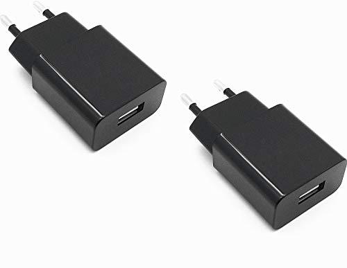 AptoFun Cargador USB con 5V 2A,2000 mAh Cargador Móvil para Dispositivos Android, Raspberry Pi 4, Samsung, iPhone Teléfono Inteligente (2 Cargadores)
