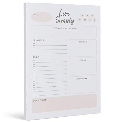 Simply Productive Daily to Do List Notepad - Prioritize All of Your Notes Goals and Todos with This Planner for Women