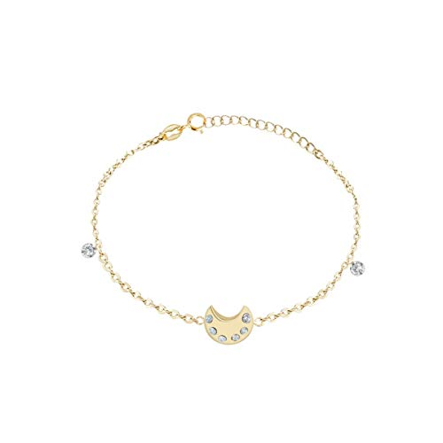 Bluespirit Women's bracelet, LUMIERE Collection, made of yellow gold 750, Zirconia cubicaa - P.13M605000300NC