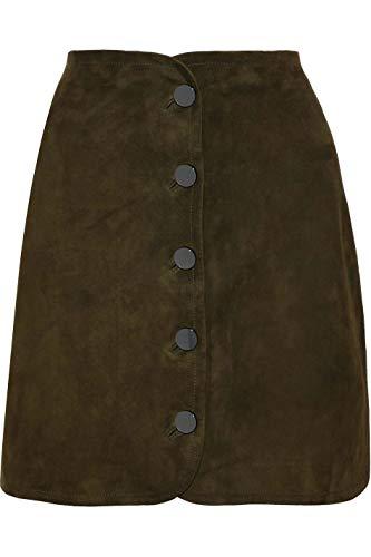 Lust for Leather Minirock für Damen, Wildleder, Braun Gr. 60, braun