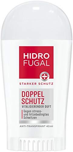 Hidrofugal Doppel Schutz Stick (40 ml), starker Anti-Transpirant Schutz gegen stress- und hitzebedingtes Schwitzen, Deo Stick für starken Schutz ohne Ethylalkohol