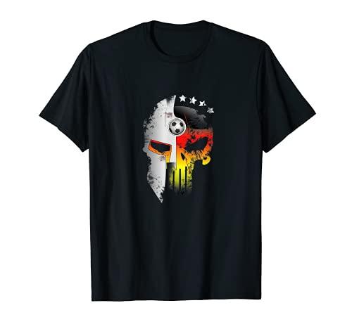 Diseño de calavera de fútbol de Alemania Camiseta