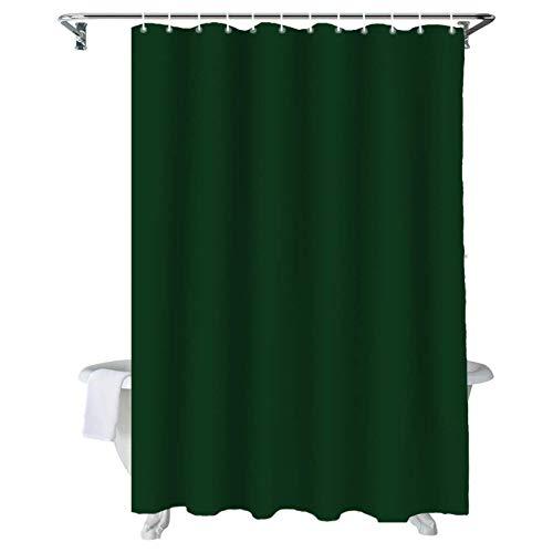 ZSZJ Duschvorhang Dunkelgrüne Duschvorhänge, dauerhafter wasserdichter Polyestergewebe Badvorhang Set for Badezimmer Tubsmall Stall Größe Badezimmerzubehör (Color : A1, Size : 120X180cm)