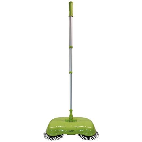 Die Kehrrevolution - Bücken ade!! Kehrbesen in den Farben Grün, Blau oder Orange Besen Kehrschaufel, Farbe Grün Zimmerbesen Haushaltsbesen Werkstattbesen Sweeper.