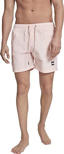 Urban Classics Block Swim Shorts Pnt, Pantalones Cortos para Hombre, Rosa (Pink 00185), Medium