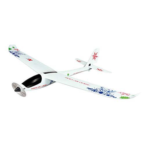 QinWenYan Avión RC Avión Planeador RC Compatible Futaba RTF A800 4CH 780mm Sistema 3D6G Radiocontrol Aviones (Color : White, Size : One Size)