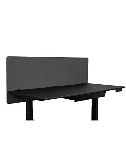 ReFocus™ Akustische Klemmtrennwand mit Stoffbezug - Reduzieren Sie Lärm und visuelle Ablenkungen mit diesem leichten, am Schreibtisch montierten Sichtschutz (Aschgraugrau, 60