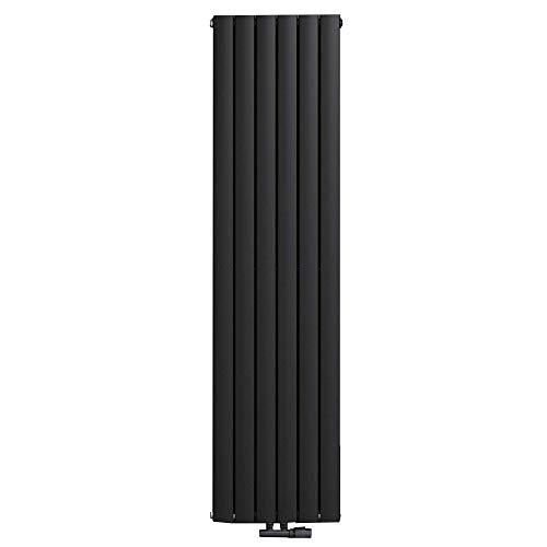 Mai & Mai radiador plano 160x46cm en radiador de panel negro vertical fabricado en acero