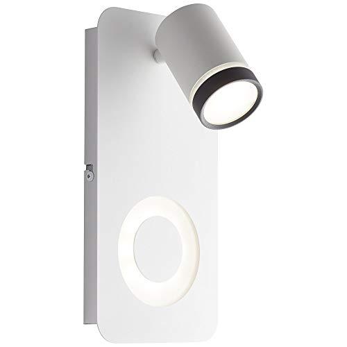 AEG BREENA LED Wandstrahler 27 cm Metall/Kunststoff Sand weiß/schwarz 2-Flammig