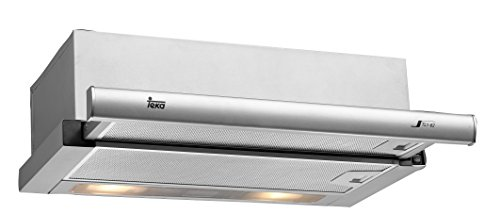 Teka TL1-62 Unterbau-Dunstabzugshaube, griffleiste Edelstahl, Halogenbeleuchtung 2x 40 W