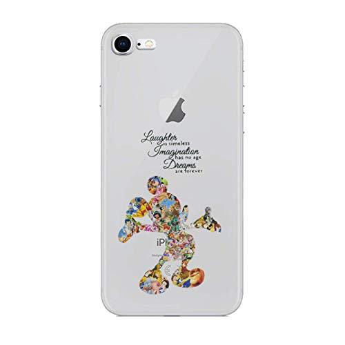 iPhone 5c Fankunst siliconenhoes/gel hoes voor Apple iPhone 5C / scherm bescherming en doek/iCHOOSE/Disney citaat