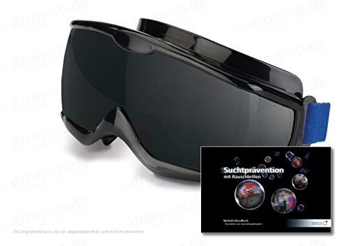ORIGINAL Rauschbrillen - Alcopopbrille Nachtversion ca. 0,8 Promille inkl. 123 - seitigem Methodenhandbuch zur Suchtprävention mit Rauschbrillen, mit praktischen Anwendungsbeispielen