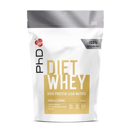 PhD Nutrition Diet Whey Protein Powder for weight loss, Vanilla Creme, 250 g