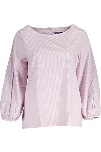 GANT Damen Bluse gestreift Fine Striped Blouse Streifen in Pink Größe 38