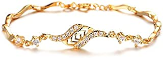 OPK Europe Style Fashion Rhinestone Bracelet 18k Gold Plating Bracelet For Women
