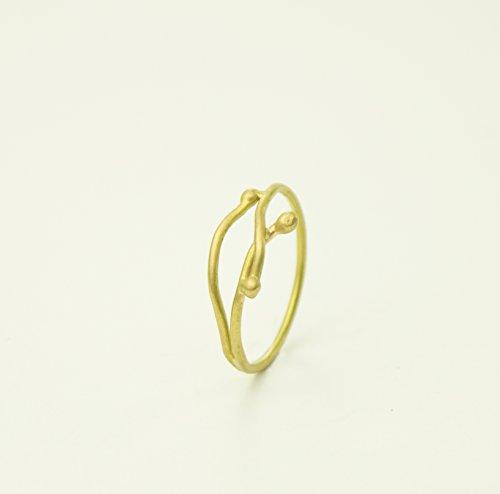 Anillo de hilo de oro, anillo finito, anillo de oro de 18kt, anillo elegante, anillo ligero, oro amarillo.