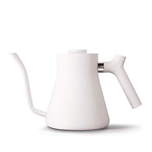 PN-Braes Tetera de cafe 1L Manual de cafe de Filtro Olla de Acero Inoxidable de medicion de Temperatura Boca pequena para el Servicio de cafe (Color : White, Size : One Size)