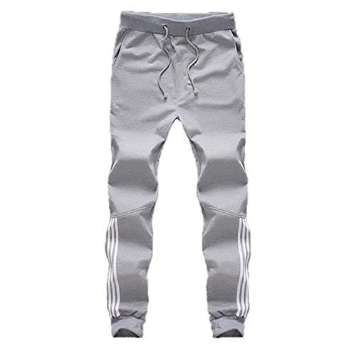 N\P Pantalones de chándal para hombre pantalones casuales de algodón para hombre