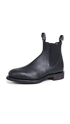 R.M. Williams Men's Gardner Leather Chelsea Boots, Black, 8.5 Medium US