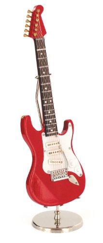 Anne Fuzeau Creation Guitarra eléctrica Miniatura roja - de Madera barnizada -...
