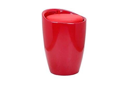 Galileo Casa 2420497 Pouff Boîte, ABS, Rouge, 37 x 37 x 45.5 cm