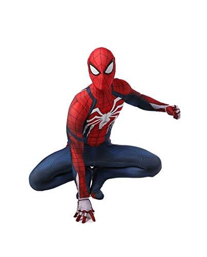 Super fantasia Traje de Cosplay de Spiderman PS4 Medias elsticas Halloween Show de disfraces de disfraces accesorios de la pelcula de disfraces (Color : A, Size : L)
